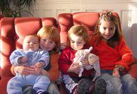Charlie, Cyann, Neel, Doudou et Lilou